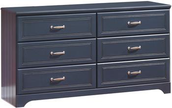 Elli Blue Dresser & Mirror