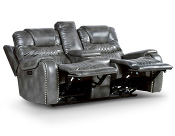 Rover Grey Powered Reclining Loveseat