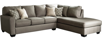 """MAKEILA Cashmere 115"""" Wide Sectional"""