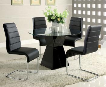GARIN Black 5 Piece Dining Set