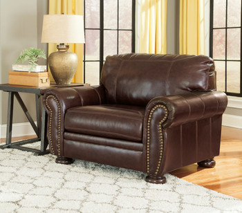Erville Leather Chair and a Half