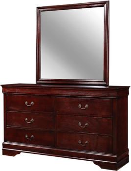 """NIMES Cherry 58.3"""" Wide Dresser & Mirror"""