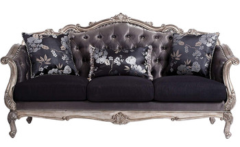 Antoinette Platinum Sofa & Loveseat