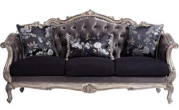 Antoinette Platinum Sofa & Loveseat