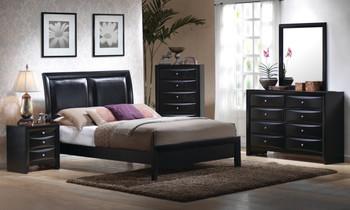 Benson Black Leatherette Bed