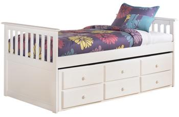 Elli White Captain Bed Bedroom Set