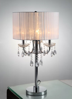 "Eunice White 29.5"" Table Lamp"