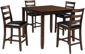 OLSEN Brown 5 Piece Counter Dining Set