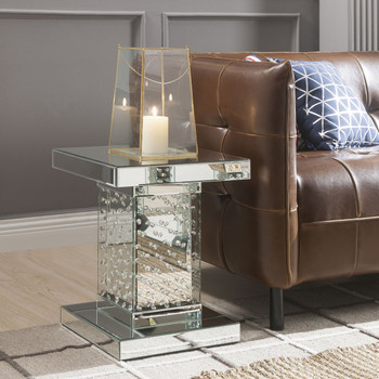 Mirna Mirrored End Table