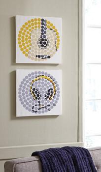 Mikel Guitar & Headphones Wall Art Set
