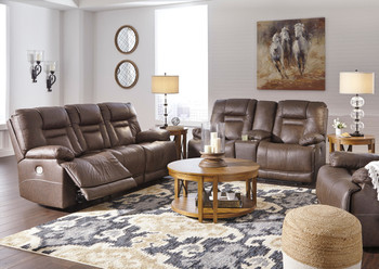 WESLEY Top Grain Leather Reclining Livingroom with Adjustable Lumbar and Headrests