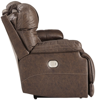 Wesley Top Grain Leather Reclining  Sofa with Adjustable Lumbar and Headrests