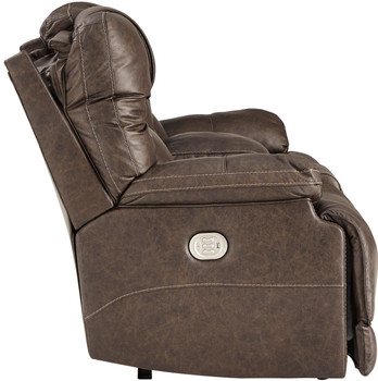 Wesley Top Grain Leather Reclining  Loveseat with Adjustable Lumbar and Headrests