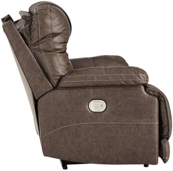 Wesley Top Grain Leather Power Recliner with Adjustable Lumbar and Headrests