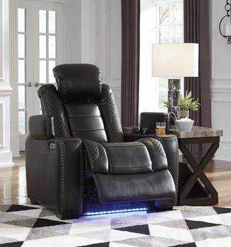 "VIKTOR Black 38"" Wide Power Reclining Chair"