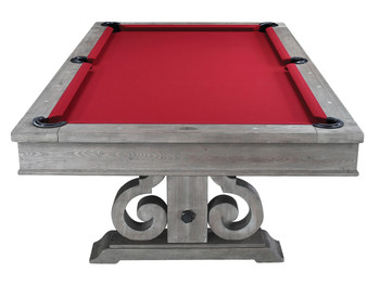 Stables Silver Distressed 8-FT Dining Table With Pool Table