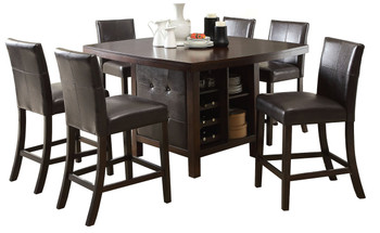 Elly Espresso 7-PC Counter Height Set