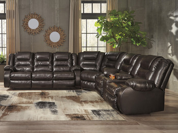 Vacherie Chocolate Sectional