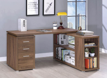 Moderna Light Brown Reversible Desk