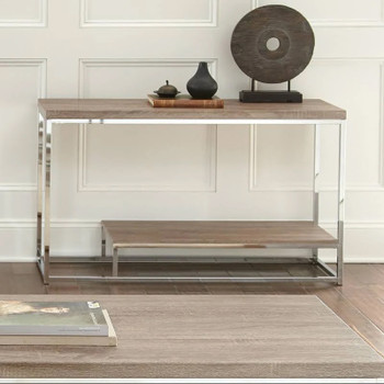 "Modani Brown 47"" Wide Sofa Table"