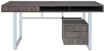 KAIYA 65'' Wide Gray Desk