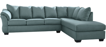 Edeline Sky Blue Sectional