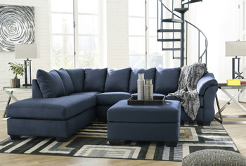 Edeline Royal Blue Sectional