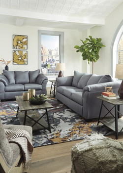 Edeline Slate Gray Sofa & Loveseat