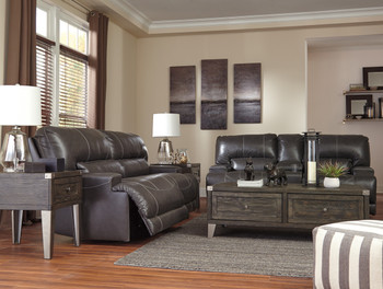 ADMIRAL Top-Grain Leather Reclining Sofa & Loveseat
