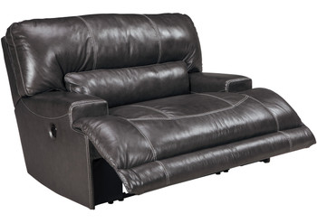 """Admiral Top-Grain Leather 55"""" Wide Recliner"""