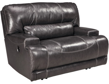 "Admiral Top-Grain Leather 55"" Wide Recliner"