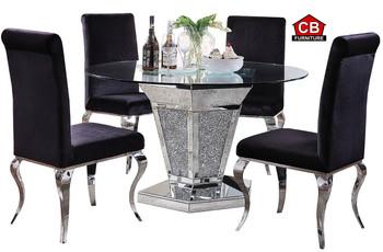 Baquet Mirrored 5-PC Dining Set