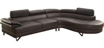 Cady Dark Brown Sectional