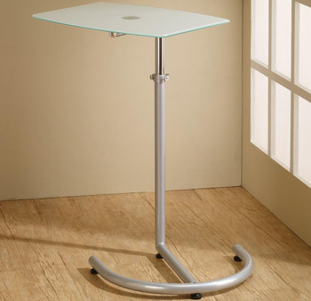 Mark Silver & Glass Adjustable Laptop Stand