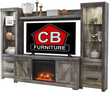 Dextre 4 Piece Wall Unit With Fireplace