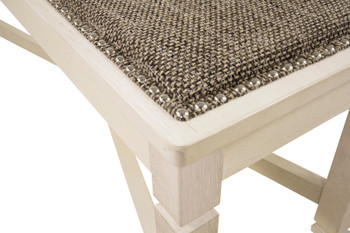 """FLEMING White 50"""" Wide Dining Bench"""