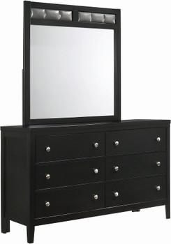 """Zade Black 61.3"""" Wide Dresser & Mirror"""