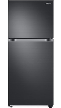 COMET T21 Black Stainless Steel 17.6 cu. ft. Top Freezer Refrigerator with FlexZone, Energy Star, Ice Maker