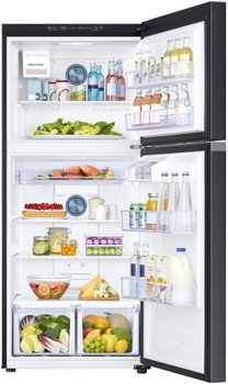 COMET T20 Black Stainless Steel 17.6 cu. ft. Top Freezer Refrigerator with FlexZone, Energy Star, Ice Maker
