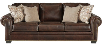 "Almeira 100"" Wide Leather Sofa"