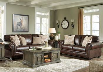 ALMEIRA 100% Leather Sofa & Loveseat