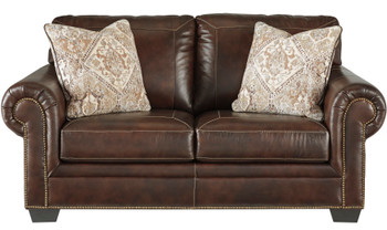 "Almeira 74"" Wide Leather Loveseat"