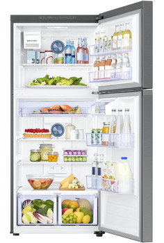 COMET T20 Stainless Steel 17.6 cu. ft. Top Freezer Refrigerator with FlexZone, Energy Star, Ice Maker