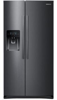 VESTA S21 Black Stainless Steel 24.5 cu. ft. Side by Side Refrigerator
