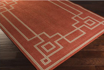 Raina Rust 5' x 7' Rug (Indoor/Outdoor)