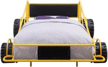 Speeder Yellow Twin Race Car Bed
