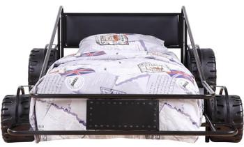 Speeder Black Twin Race Car Bed