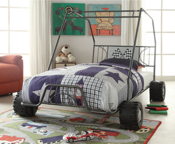 Buggy Gunmetal Twin Car Bed