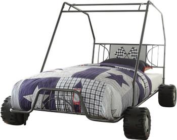 Buggy Gunmetal Twin Car Bed