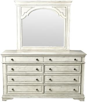 Newhaven White Dresser & Mirror